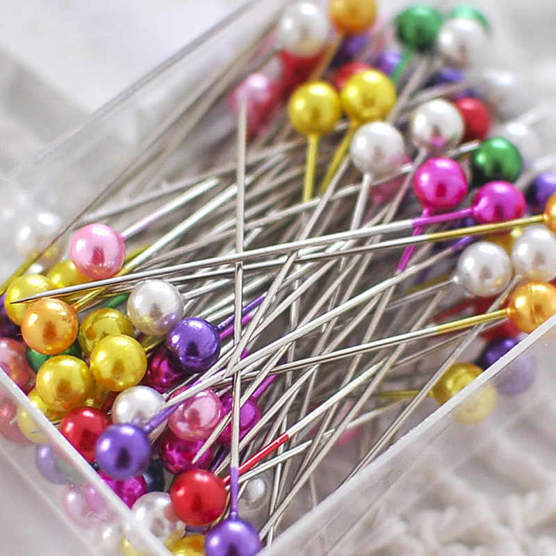 Hoomall 100Pcs/Set 36mm Pearl Needle Round Head Clothing Pin Sewing Pins Diy Decoration Crafts Pins Needle Sewing Accessories