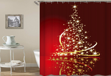 Merry Christmas Waterproof Shower Curtain Sets Polyester Fabric Curtain Cartoon Home Bathroom Curtains With 12 Hooks Fornasetti