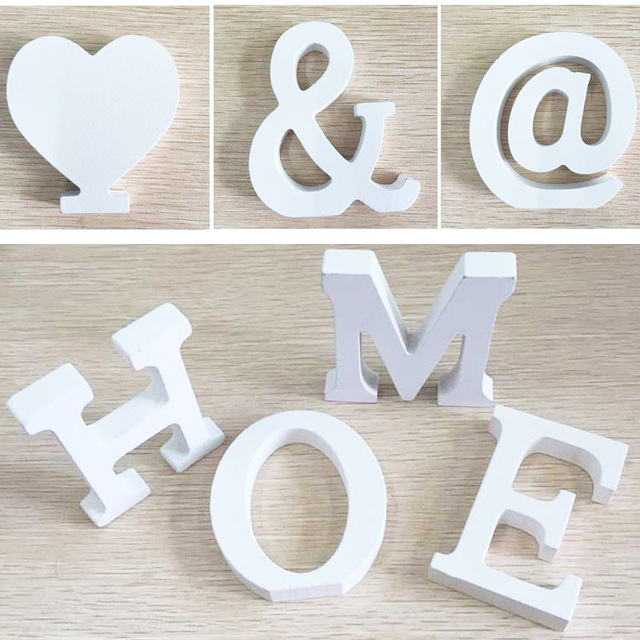 Ordinaire 6pcs Door Wedding Decorations Letters U0026 Digital Wooden Crafts Birthday Home  Decoration Handmade DIY Creative Free
