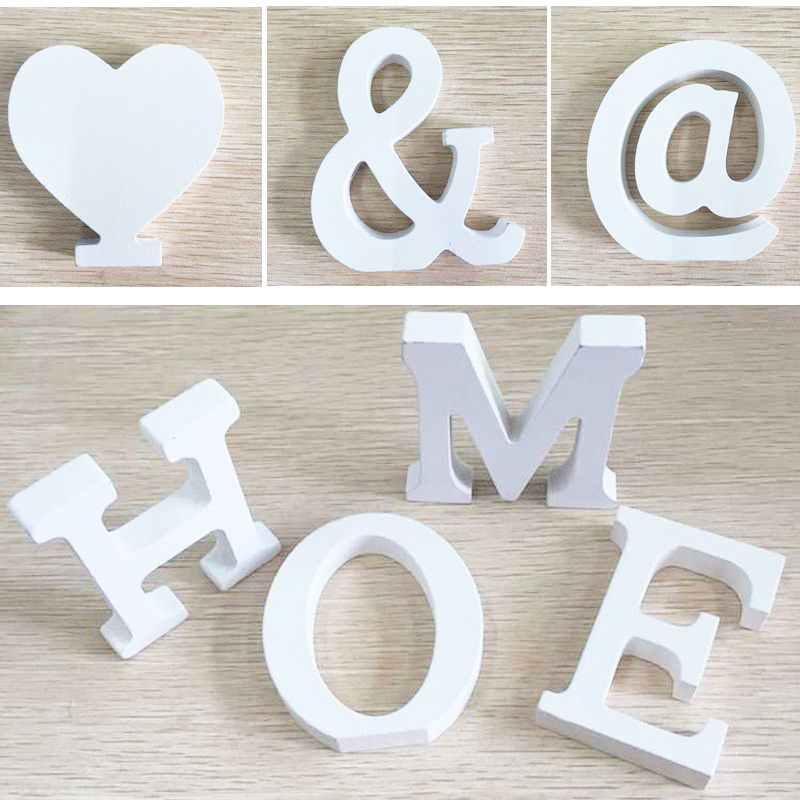 6pcs door wedding decorations letters digital wooden crafts birthday home decoration handmade diy creative free