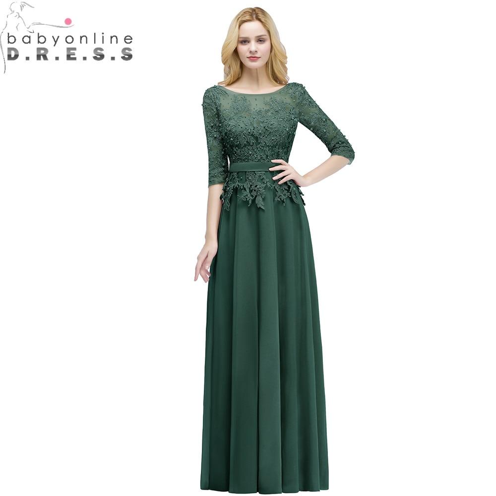 Vestido de Festa Elegant Lace Pearsl Long   Evening     Dress   Sexy Backless Half Sleeve   Evening   Gown Abendkleider Robe De Soiree Longo
