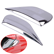 DWCX 2PCS ABS Chrome Car Rear Window Spoiler Side Bevel Cover Fit for Buick Encore Opel Vauxhall Mokka 2012 2013 2014 2015-2018