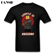 Lucille Is Awesome Walking Dead Negan Men Tshirt 2019 Summer Tshirt Men Boy Short Sleeve O Neck Big Size Clothes Tops For Adult