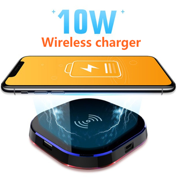Ασύρματος Φορτιστής Συσκευών που Δέχονται Ασύρματη Φόρτιση 10w Qi Γρήγορης Φόρτισης Power Banks Gadgets MSOW