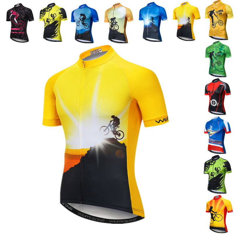 Weimostar Summer Riding Cycling Jersey Shirt Men Pro Team Mountain Bike Clothing Maillot Ciclismo Quick Dry MTB Bicycle Jersey image