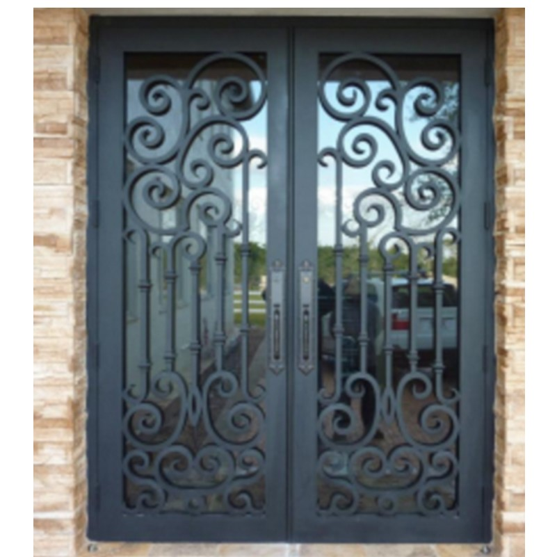 Hench 100% Steel Metal Iron  Arched Double Entry Doors Hc-ird24