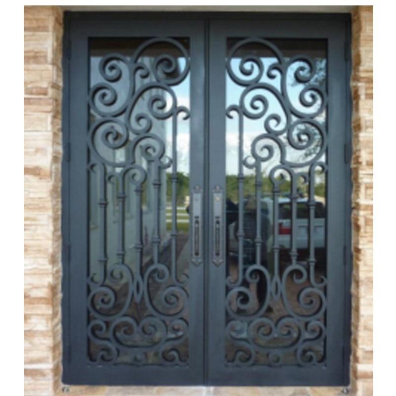 Metal Glass Double Entry Doors Luxury Double Entry Doors Arched Double Entry Doors Hc-ird24
