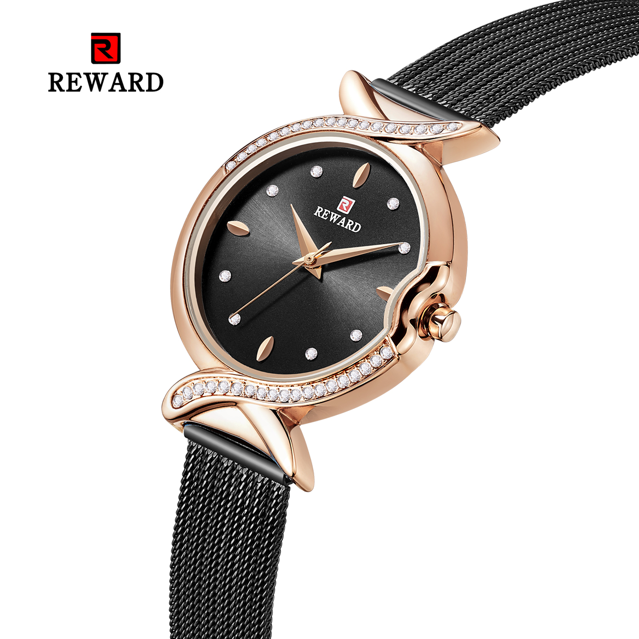 women watches dress watch diamond casual dress small dial Exquisite luxury designer rose gold watch gift for girlfriend RD63075L