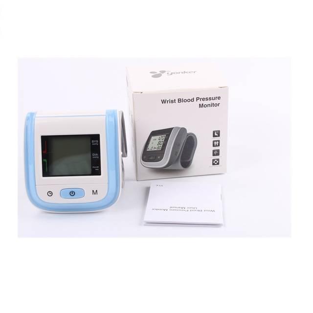 Blood Pressure Monitor Tonometer Fully Automatic Digital Upper Wrist Blood Pressure Monitor BP Monitor Portable CE Free Ship