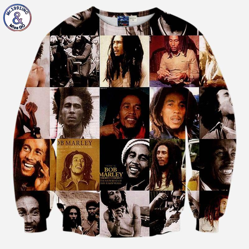 Mr.1991INC Bob Marley Sweatshirts men/women long sleeve 3d sweatshirt print casual hoodies tops tracksuits pullover