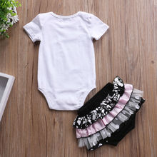 Newborn Infant Baby Girls Letter Printed Romper Jumpsuit