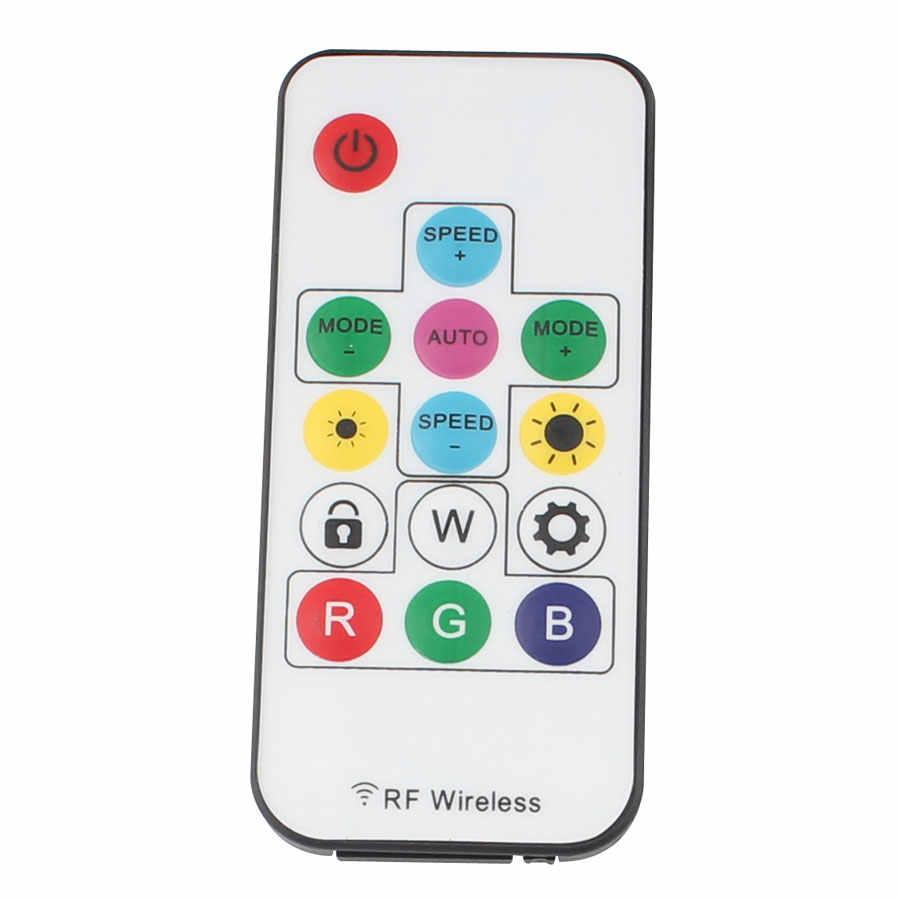 DC 5 V 12V14Key télécommande Mini 12 V RF LED RGB RGBW contrôleur DC 5 V 12 V pour WS2812b WS2811 bande de LED bande de lumière LED de contrôle