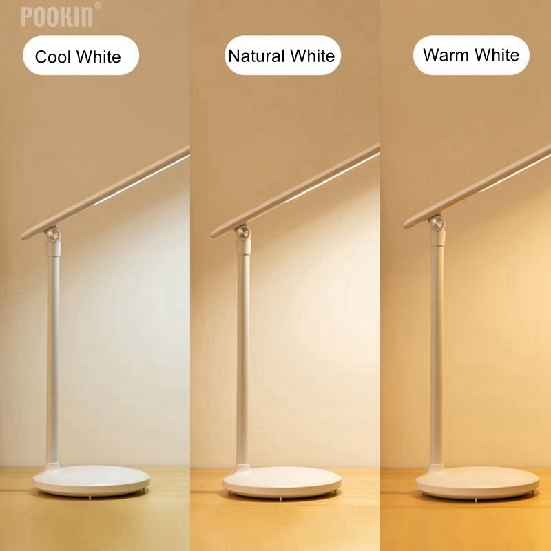 USB Rechargeable LED Foldable Desk Lamp Eye-protected Long Life Book Table Lamp Led Light Dimming Brightness and Color usb rechargeable foldable touch dimming desk lamp 42 led 3 brightness adjustable eye protect ultra thin reading study lamp