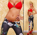 Горячая распродажа женщин джинсовые леггинсы красочные окрашенные дамы тонкий капри женские jeggings 21 стиль бесплатная доставка