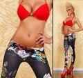Súper ventas de las mujeres Denim Jeans Leggings de colores painted Ladies delgado para mujer capris jeggings 21 style envío gratis