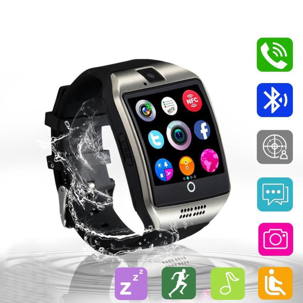 Smart Watch Q18 Smartwatch Bluetooth Phone With Sim Card Camera Curved Screen Connecting Smart Clock watch pk gt08 DZ09 A1 Y1