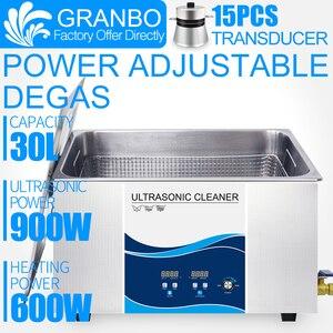30 l limpiador ultrasónico Industrial 0-900W potencia ajustable Degas para placa de circuito PCB autopartes piezas de Hardware quitar de carbono