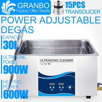 цена на 30L Ultrasonic Cleaner Industrial 0-900W Power Adjustable Degas  For Circuit  Board PCB Auto Parts Hardware parts Remove carbon