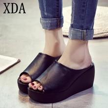 XDA 2018 Hot Sale fashion Women Summer Fashion shoes women platform wedges Fish Mouth Sandals Thick
