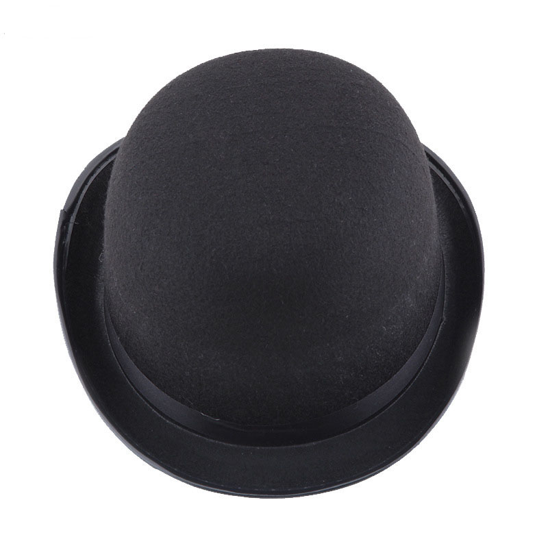 Jazz Hat Magic-Hat Party-Performance Black British Women Halloween-Props Wind-Felt New title=