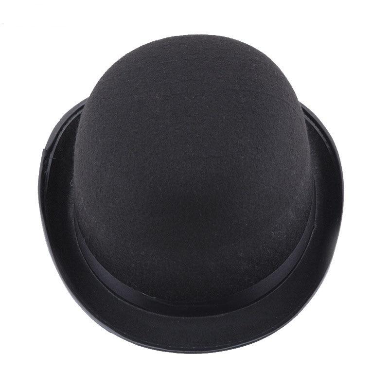 New Black Magic Hat British Wind Felt Gentleman Hat Holiday Party Performance Jazz Hat Halloween Props Common For Men And Women
