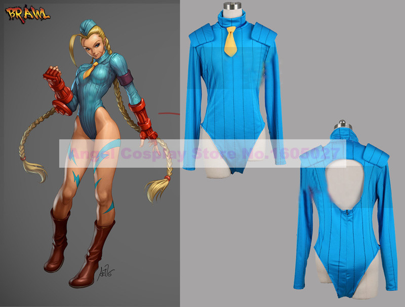 Game Street Fighter Cammy Cosplay Costume Sexy clothing Halloween Carnival Costume for women Free shipping