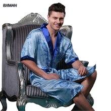 2016 New Style Men Robes V Neck Mens Sexy Sleepwear Male Kimono Half Men Pajamas