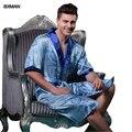 2016 nuevos hombres del estilo Robes V cuello para hombre ropa de noche atractiva para hombre Kimono media hombres pijamas
