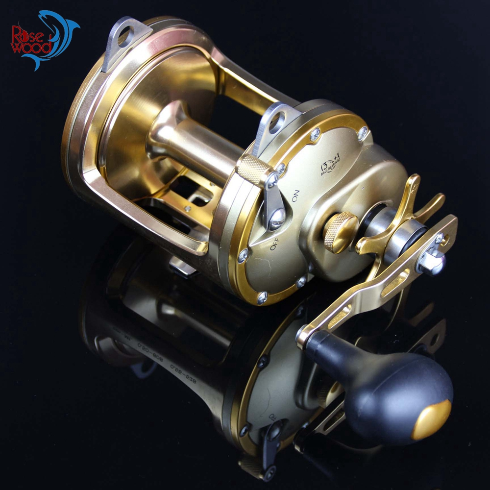 New saltwater level wind trolling fishing reels right hand for Heavy duty fishing reels