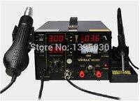 Multifunction SMD/SMT rework station hot air gun soldering iron DC power supply 3in1 YH 853D, welding machine, iron soldering