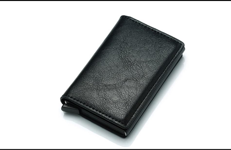 de carbono, porta-cartões em couro triplo preto,