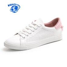 HUANQIU Chaussures Femmes Blanc En Cuir  ...