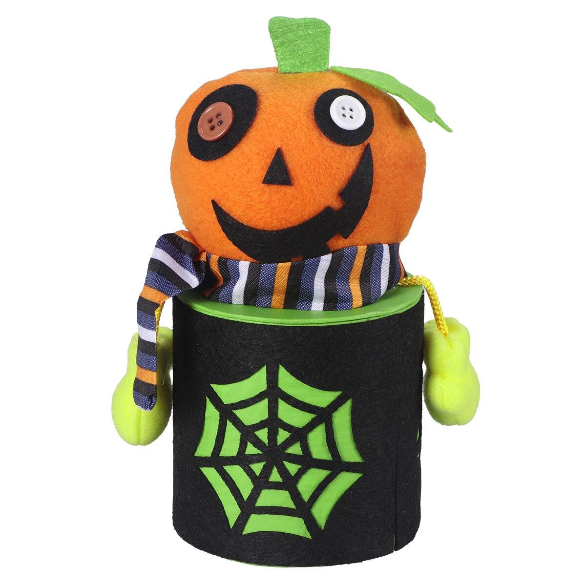 halloween cute cartoon pumpkin candy jar tin treat cookie sweet