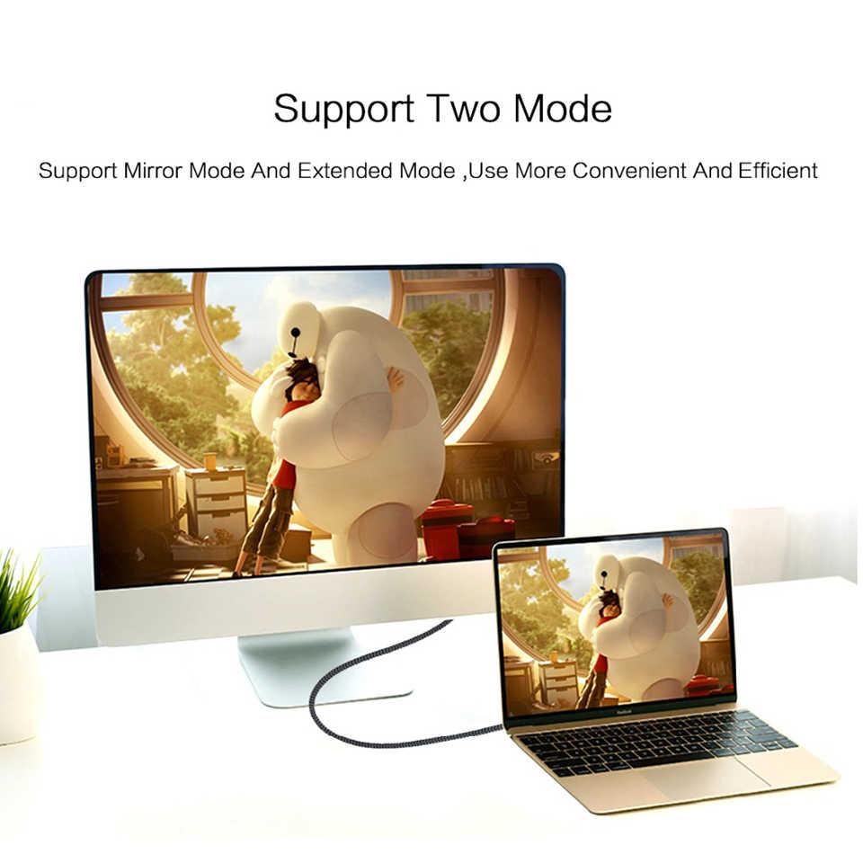 QGeeM USB Type C 3.1 إلى Mini ديسبلايبورت كابل DP 4K 60HZ HDTV محول محول للحاسوب النقال هواوي ميت 10 سانسونغ S8