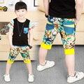 Limitada de niños flores apresuradas Regular polainas 2015 nueva llegada del verano ropa de los niños de flores pantalones de niño pantalones casuales hombres