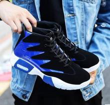 2018 spring autumn new men shoes Korean version the trend mens casual increased tide blue black sneakers