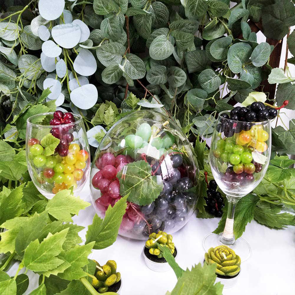 3pcs Artificiale Uva Uva Mini Grappoli di Uva di Gomma Fasci Decorativi Uva Grappoli in Bordeaux Nero Rosso Verde Faux Frutta