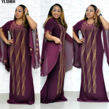 African Dresses for Women Dashiki Diamond African Clothes Bazin Broder Riche Sexy Slim Ruf