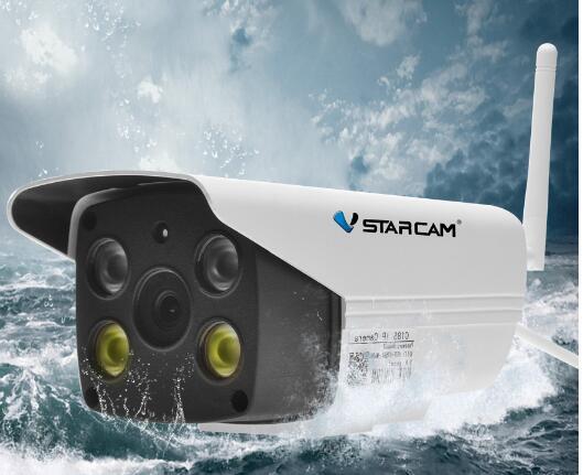 2MP 1080 P HD avec AP Hotspot et RTC, Pas Besoin Extranet Plein-couleur Vision Nocturne En Plein Air Balle caméra C18S