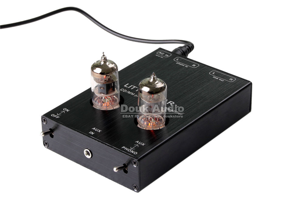 Hi-Fi 6J1 Valve Tube Phono Stage AUX & MM RIAA Turntable Phonograph Preamplifier Stereo Pre-Amp tube mm phono stage amplifier board pcba ear834 circuit vinyl lp amp no including 12ax7 tubes riaa hifi audio diy free shipping