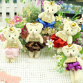 12CM 12pcs/Bag PP Cotton Kid Toys Plush Doll Mini Small Teddy Bear Flower Bouquets Bear For Wedding For  Gift