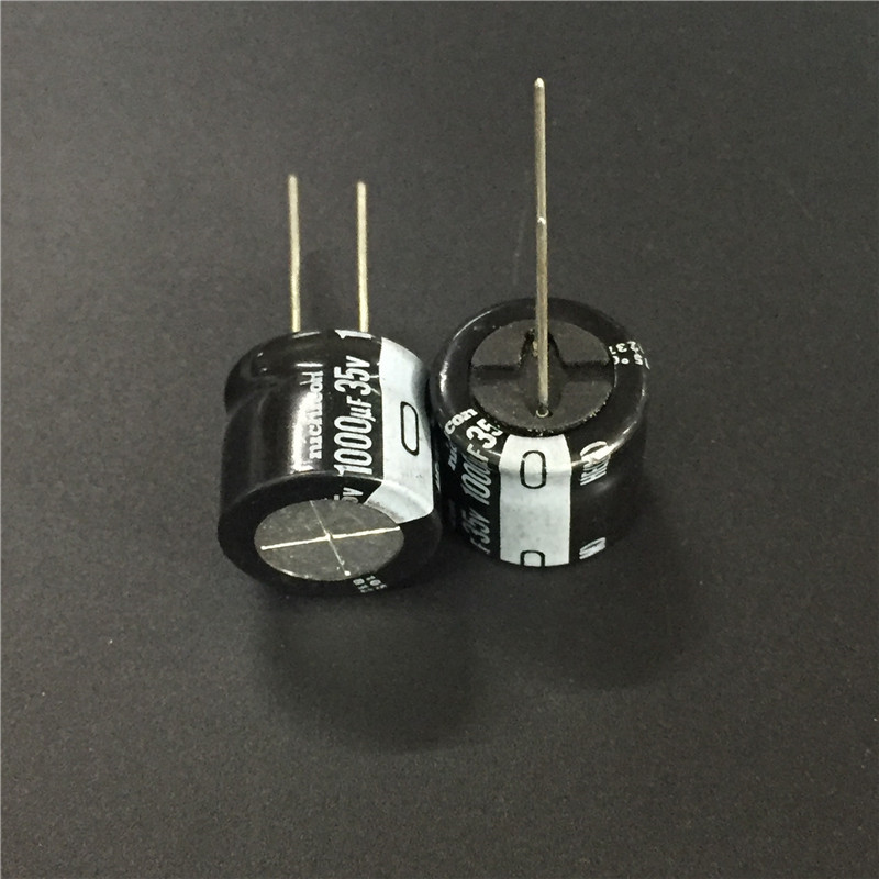 5pcs/50pcs 1000uF 35V NICHICON HE Series 18x16mm Extremely Low Impedance 35V1000uF Aluminum Electrolytic Capacitor