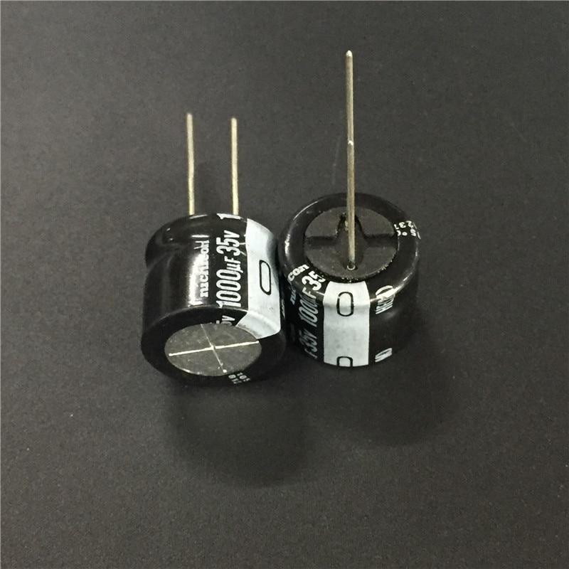5pcs/50pcs 1000uF 35V NICHICON HE Series 18x16mm Extremely Low Impedance 35V1000uF Aluminum Electrolytic Capacitor
