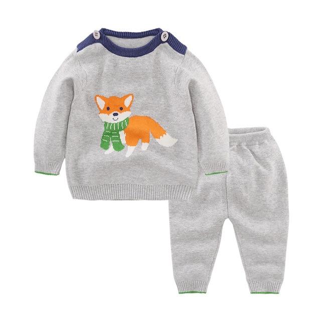 Bebé Sets historieta del gato Trajes otoño suéter para recién nacido ...