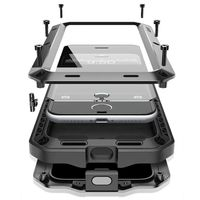 Luxus Doom Rüstung Leben Stoßfest Dropproof Stoßfest Metall Aluminium + Silikon fall Für IPhone 8 7 6 S 6 S Plus X Schutzhülle abdeckung