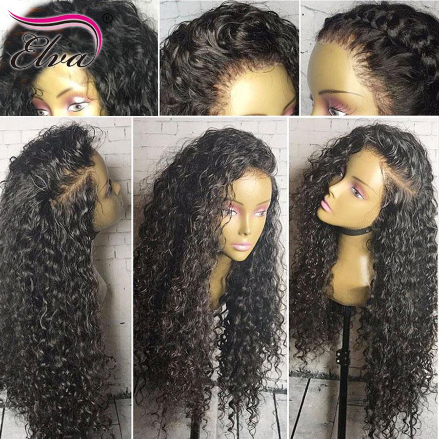 Elva Hair 4x4 Silk Base Closure Straight Brazilian Remy Mänskligt - Mänskligt hår (svart)