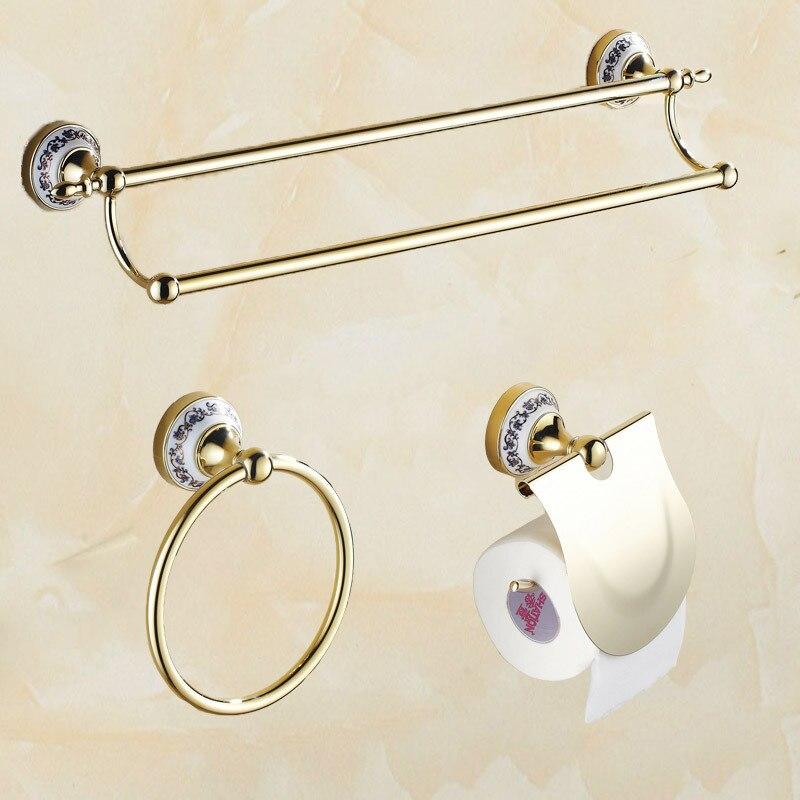 Лидер продаж для реального Ванная комната набор Брусья Полотенца бар кольцо туалет Бумага держатель ролик ролики Ванная комната аксессуар... ...