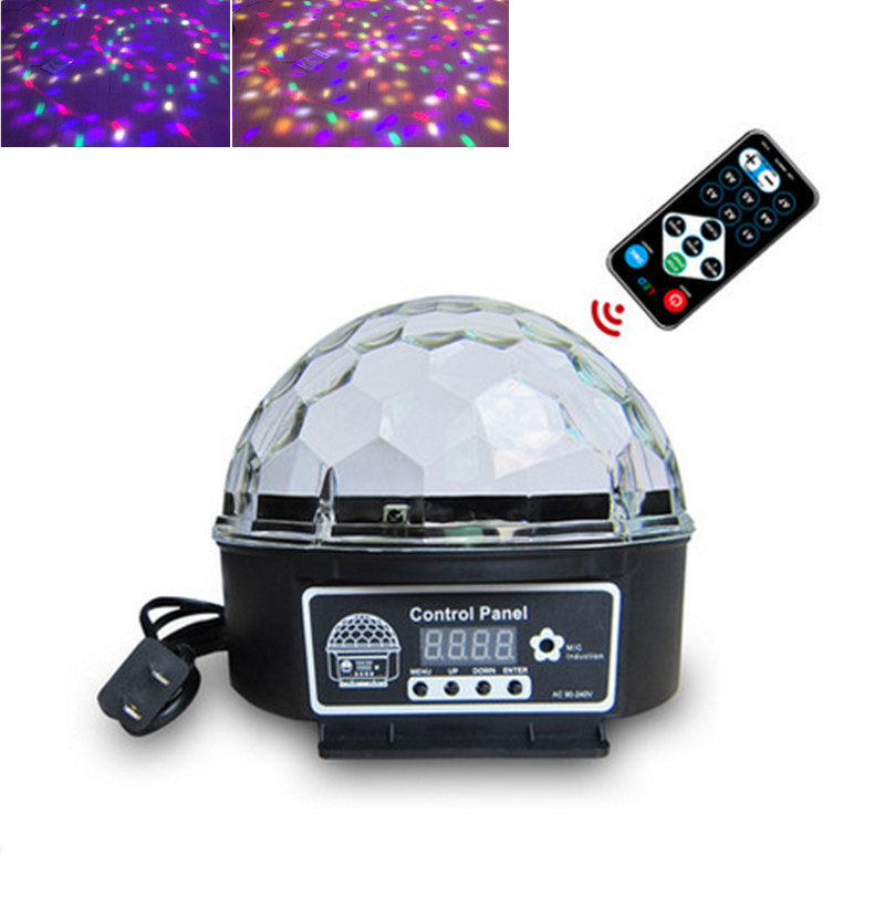 9 Colors  Crystal Magic Ball Led Stage Lamp 21Modes Disco Laser Light Party Lights Sound Control Christmas Laser Projector transctego led stage lamp laser light dmx 24w 14 modes 8 colors disco lights dj bar lamp sound control music stage lamps