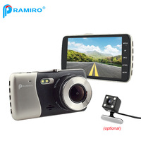 4 IPS Screen Dash Cam Full HD 1080P Novatek 96658 Car Dvr Dual T810plus Video Registrar