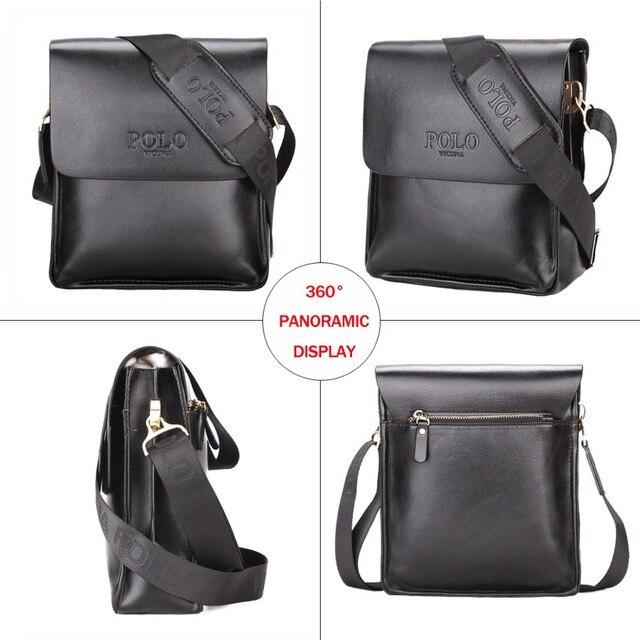 Men Leather Sling Bag Casual Business Leather Mens Messenger Bag Vintage Men's Crossbody Bag 3
